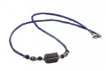 Collier ras du cou avec pendentif de pierre précieuse et naturelle