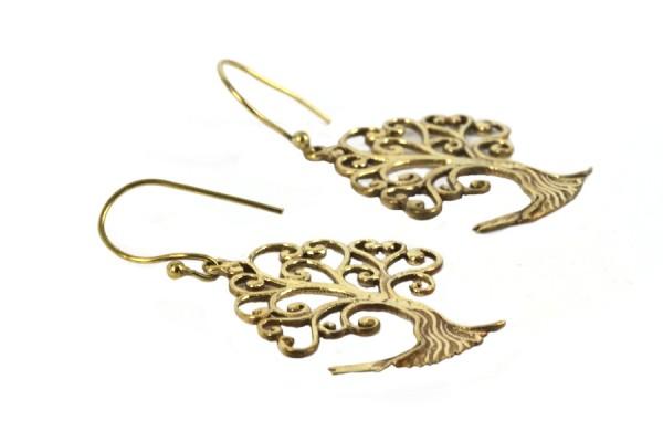 Boucles d'oreilles Kabyles pendantes dorées or vintage chic