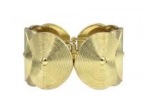Bracelet manchette métal doré