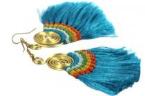 Boucles d'oreilles colorées et pendantes style vacances et plage
