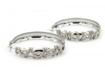 Boucles d'oreilles anneaux argent tribales créoles
