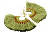 Boucles d'oreilles double anneau créateur amérindiennes