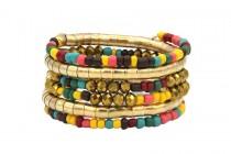 Bracelet manchette pour mariage en perles