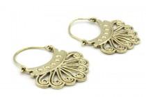 Boucles d'oreilles or dorées et argent pour femme