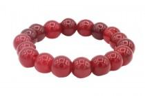 Bracelet fantaisie pierre rouge coloré pour femme