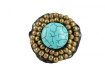 Belle bague turquoise réglable pour femme