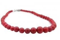 Collier ethnique rouge femme coloré de créateur