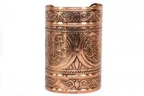 Bracelet ethnique doré large
