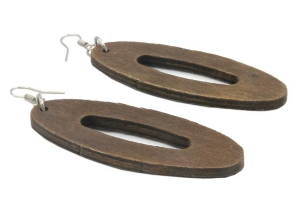 Boucles d'oreilles en bois tribal