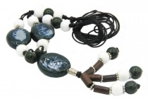 Sautoir avec hibou coloré, collier fantaisie  pour femme