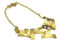 Collier ras du cou or doré
