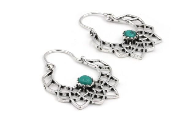 Boucles d'oreilles anneaux argent tribales
