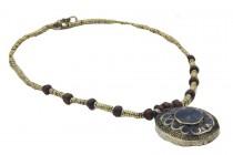 Collier ethnique perles, bois et os