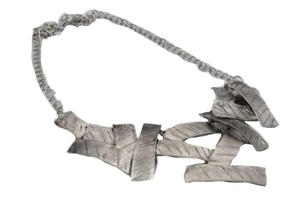 Collier multirang chaîne argenté