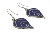 Boucles d'oreilles  bleu roi en lapis lazuli pendantes
