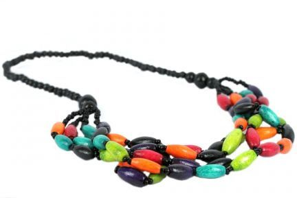 Collier multicolores et fantaisie
