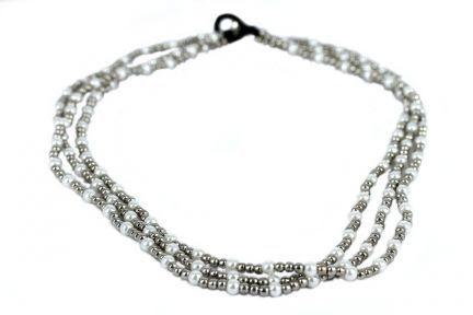 Collier en perles fines fantaisie