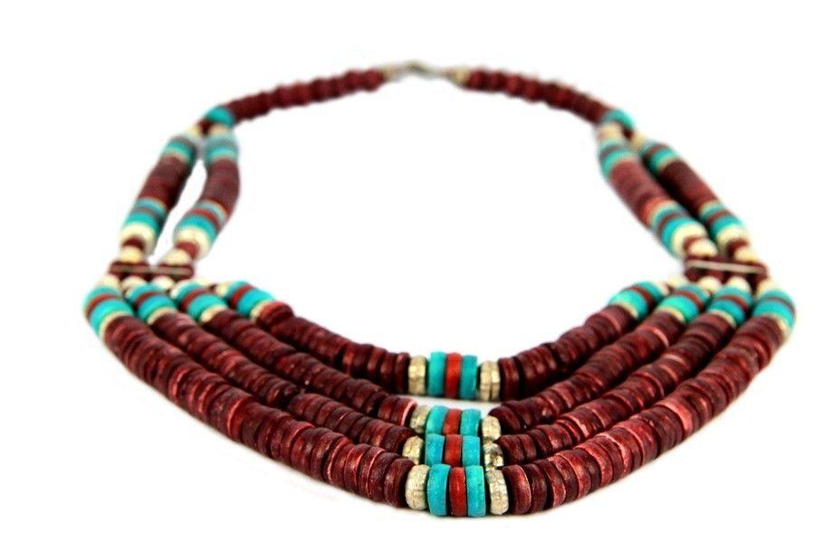 collier multirang en perles multicolores. Black Bedroom Furniture Sets. Home Design Ideas