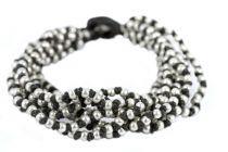 Bracelet vintage en perles multirangs