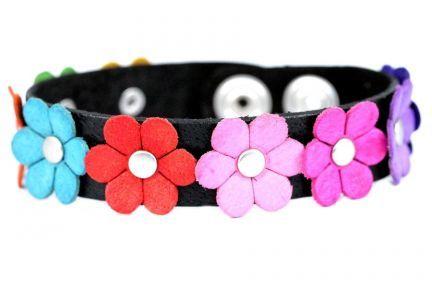 Bracelet cuir fleur pas cher