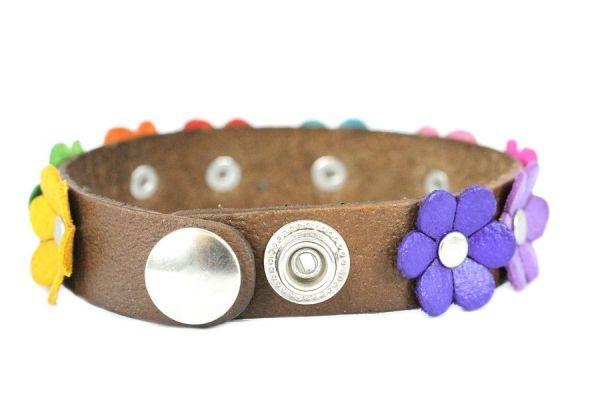 Bracelet cuir fleur pas cher for Fleur a repiquer pas cher
