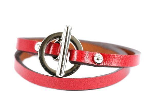 Bracelet cuir couturier