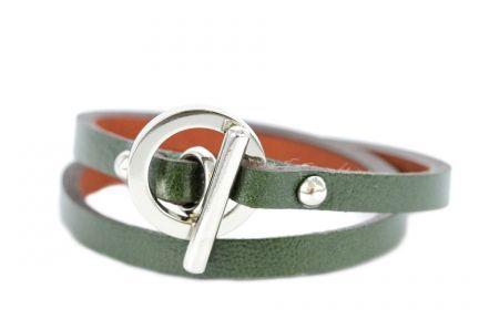 Bracelet double tour cuir