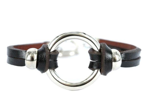 Bracelet cuir maroquinier