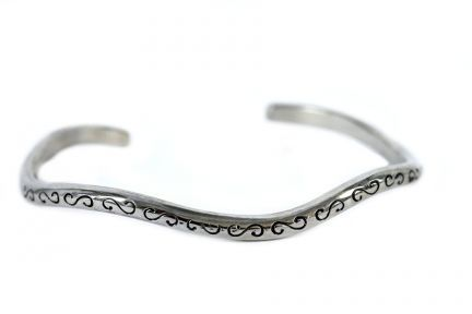 Bracelet jonc argent pour poignet fin