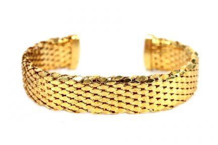 Bracelet manchette doré pas cher