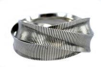 Bracelet anneaux multiples argent