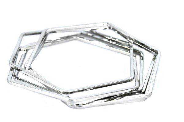 Bracelet hexagonal argenté