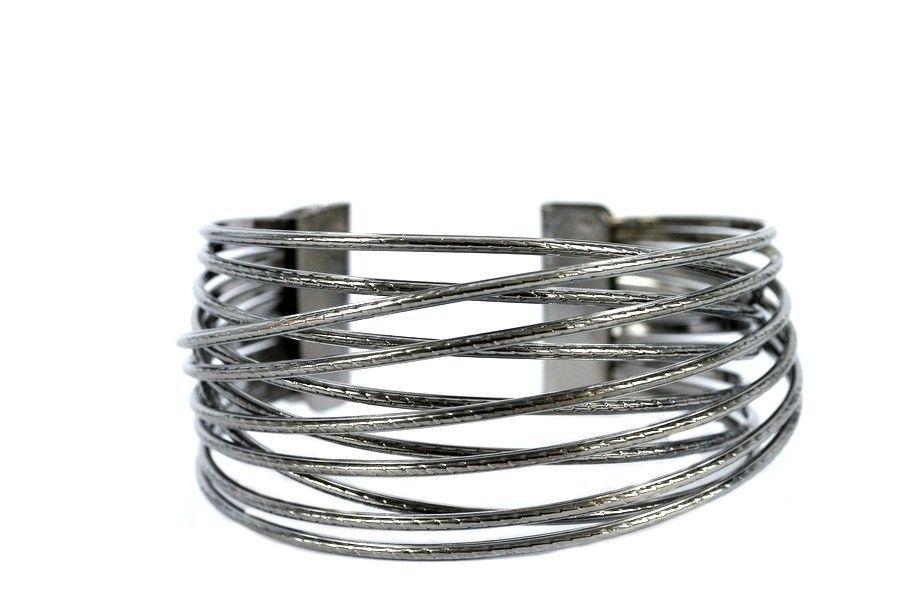 Bracelet manchette argent pas cher for Porte bracelet pas cher