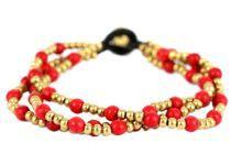 Bracelet perles plusieurs rangs