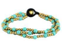 Bracelet perles 3 rangs petit prix