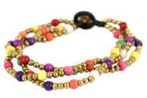 Bracelet fantaisie perles multicolores
