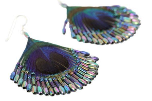 Boucles d'oreilles plumes Nature