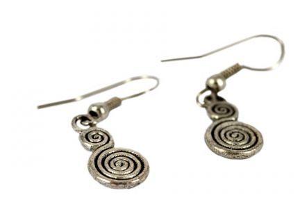 Boucles d'oreilles spirale ethniques