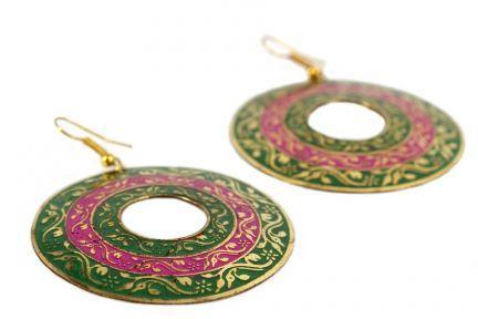 Boucles d'oreilles créoles indiennes