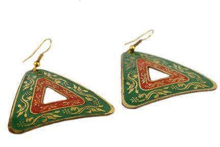 Boucles d'oreilles triangles fantaisie