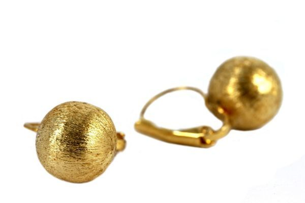 Boucles d'oreilles Sphère dorée