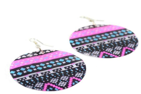 Boucles d'oreilles en nacre aztèque