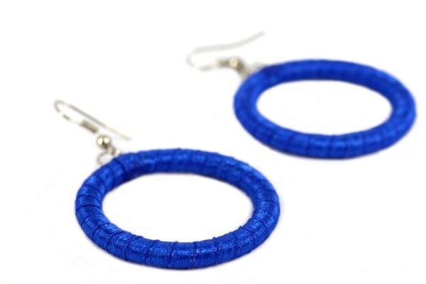 Boucles d'oreilles bleu Électrique