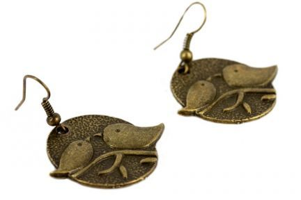 Boucles d'oreilles avec des oiseaux