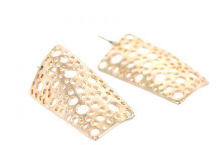 Boucles d'oreilles métal doré design