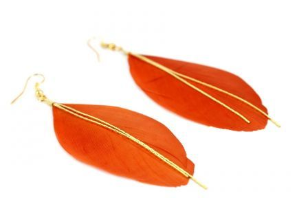 Boucles d'oreilles orange fantaisies