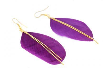Boucles d'oreilles violettes vintage