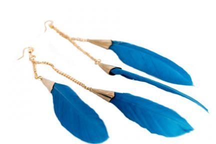 Boucles d'oreilles en plumes Longues