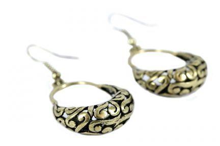 Bijoux boucles d'oreilles orientales dorées