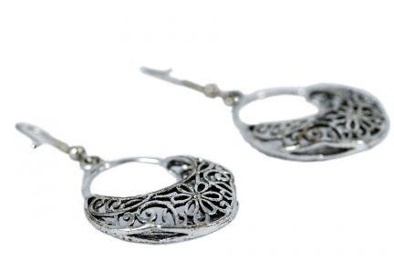 Boucles d'oreilles orientales argent